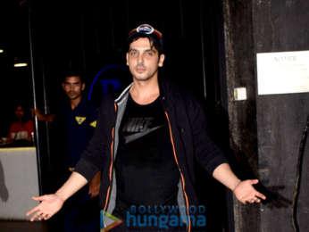 Sunny Leone and Zayed Khan spotted at Tara B Hotel in Juhu