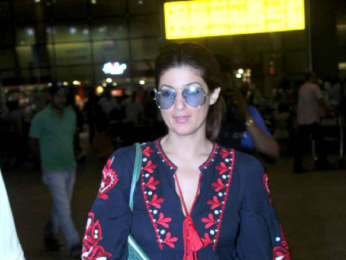 Twinkle Khanna, Prachi Desai, and Ayushmann Khurrana snapped at the airport