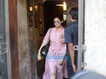 Twinkle Khanna and Anupama Chopra snapped at Pali Bhavan