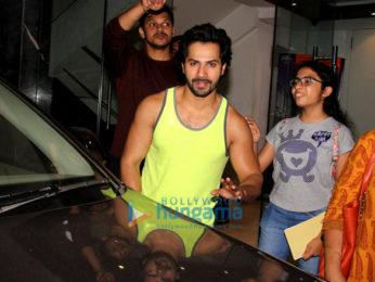 Varun Dhawan spotted at gym Khar