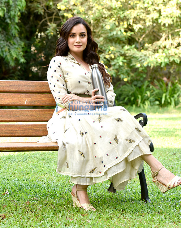 Dia Mirza snapped during a photo shoot for World Environment Day