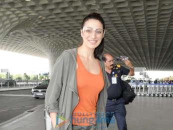 Evelyn Sharma, Laxmi Rai and Priyanka Sharma snapped at the airport