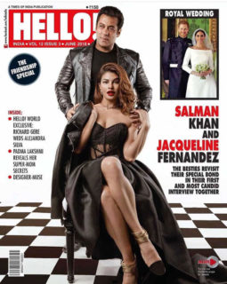 Salman Khan and Jacqueline Fernandez On The Cover Of Hello!, June 2018