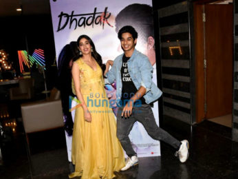 Ishaan Khatter and Janhvi Kapoor snapped at press conference of the song launch from Dhadak