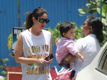 Kareena Kapoor Khan snapped with Taimur Ali Khan at the gym