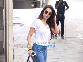 Malaika Arora spotted at a salon in Bandra