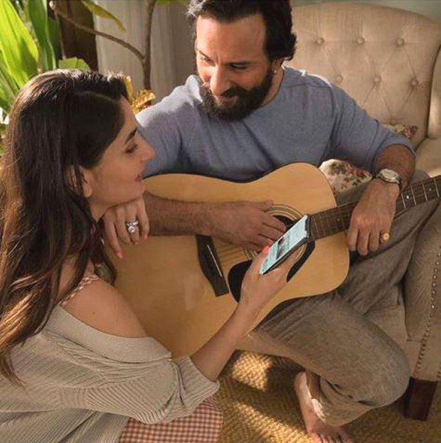 PHOTOS: Saif Ali Khan and Kareena Kapoor Khan look SMITTEN by each other in this commercial shoot