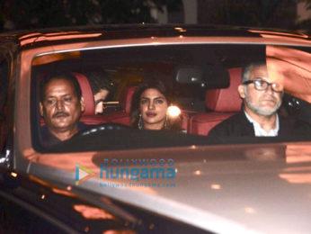 Priyanka Chopra, Nick Jonas and Madhu Chopra snapped for dinner in Taj Colaba