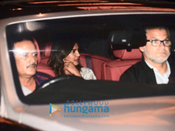 Priyanka Chopra, Nick Jonas and Madhu Chopra snapped for dinner in Taj Colaba