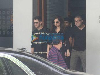 Priyanka Chopra and Nick Jonas snapped at the Kalina airport gate