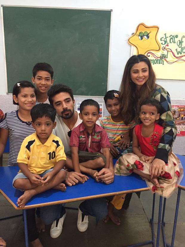 Race 3 actors Daisy Shah and Saqib Saleem visit NGOs post the success of the film