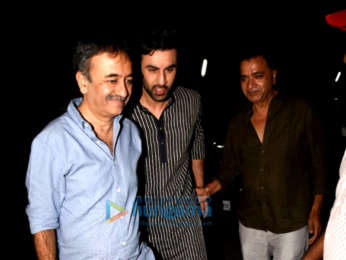 Ranbir Kapoor, Alia Bhatt, Sanjay Dutt, Aamir Khan and others snapped attending the the special screening of 'Sanju'