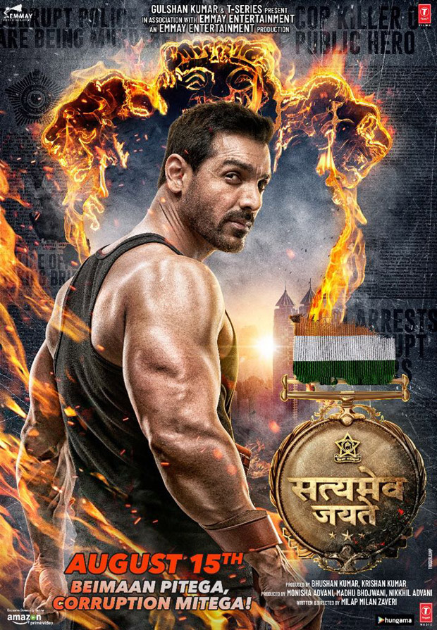 Satyameva Jayate: John Abraham looks fierce and intense in this new poster of the film