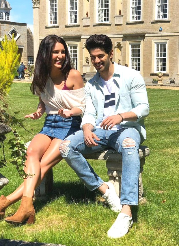 This picture of Isabelle Kaif and Sooraj Pancholi sharing a hearty laugh on the sets of Time To Dance is a GLIMPSE of their adorable chemistry!