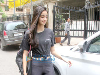 Ananya Pandey spotted at the gym