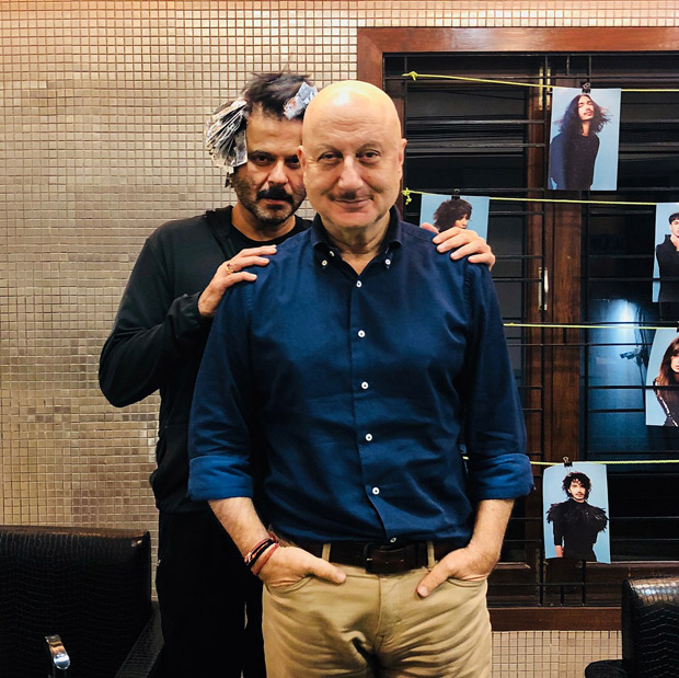 Anupam Kher's quirky comment on his salon encounter with Anil Kapoor will leave you in SPLITS!