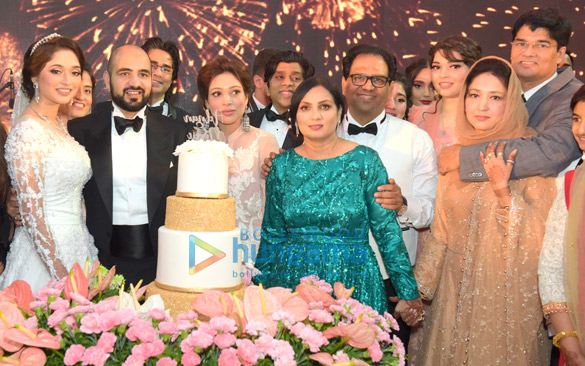 Celebs attend the Walima ceremony of Nawab of Kurnool Adnan Ul Mulk and Nida Farooqui's royal wedding