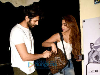 Ekta Kapoor and Kartik Aaryan snapped in Juhu