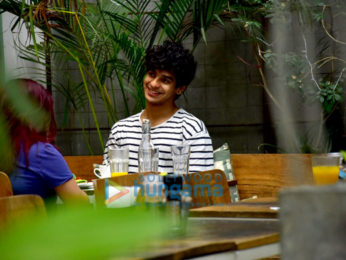 Ishaan Khatter snapped at the Kitchen Garden in Bandra
