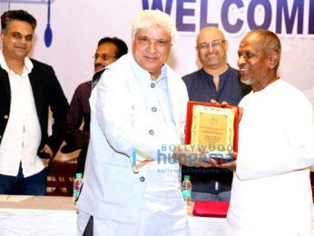 Javed Akhtar meets A.R Rahman and Ilaiyaraaja at IPRS Chennai meet