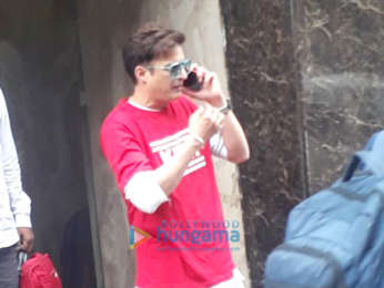 Jimmy Sheirgill and Mahi Gill snapped at 98.3 FM Radio Mirchi office in Lower Parel