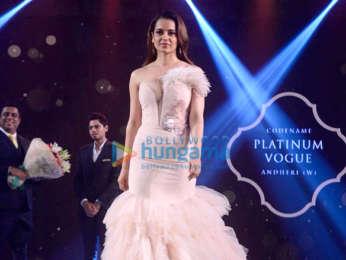 Kangana Ranaut walks the ramp for Platinum Vogue