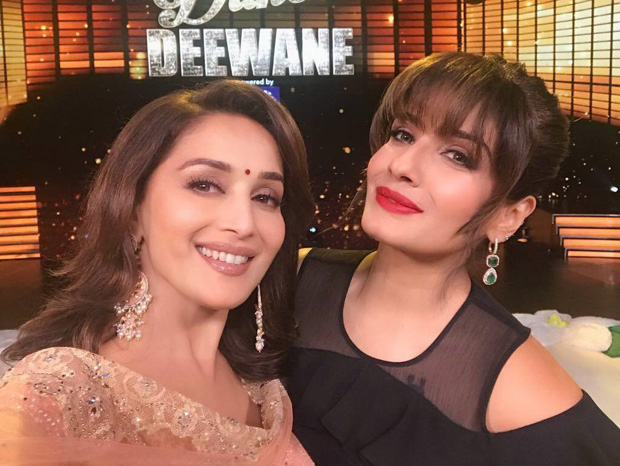 Madhuri Dixit caught up with fellow 90s superstar Raveena Tandon and the rest is history (watch video)