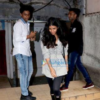 Nimrat Kaur spotted at Chandan cinema in Juhu