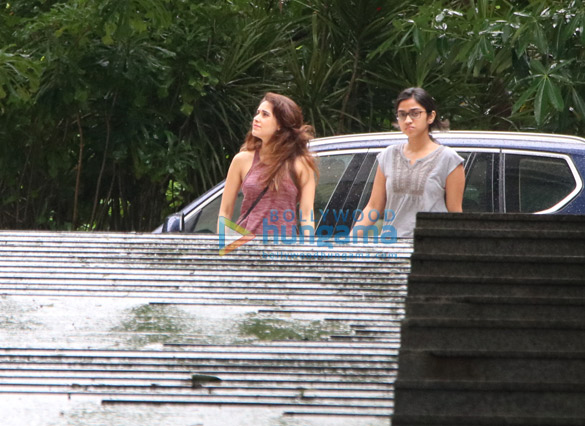 Nushrat Bharucha and Dia Mirza spotted in Bandra