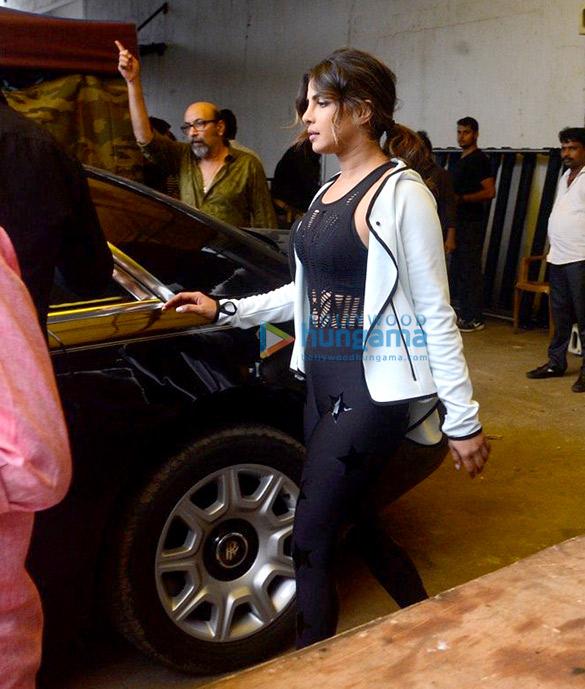 Priyanka Chopra snapped shooting for an ad at Filmcity