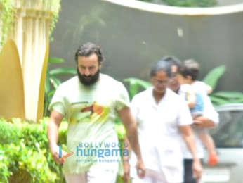 Saif Ali Khan and Taimur Ali Khan snapped near their house in Bandra