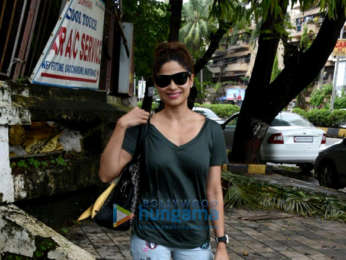 Shamita Shetty snapped at a spa in Juhu