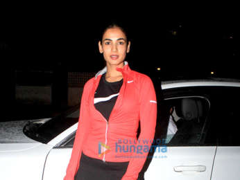 Sonal Chauhan snapped at the gym in Juhu