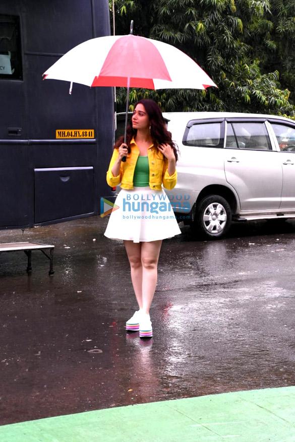 Tamannaah Bhatia snapped at an ad shoot at Filmcity (3)
