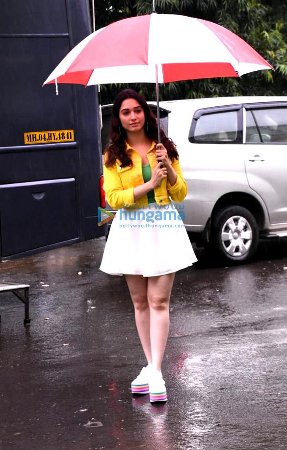 Tamannaah Bhatia snapped at an ad shoot at Filmcity (4)