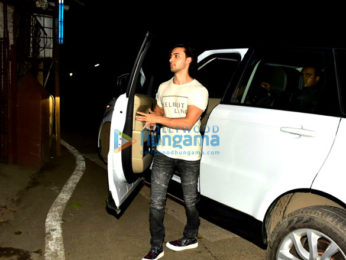 Aayush Sharma spotted at dubbing studio in Bandra