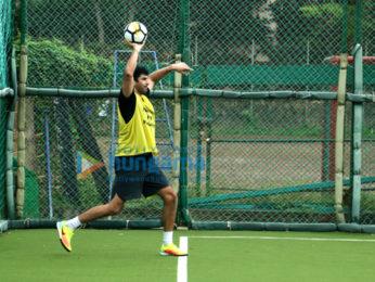 Aditya Roy Kapur snapped during soccer practice