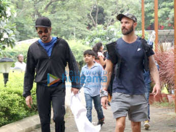 Anil Kapoor snapped at a park in Juhu
