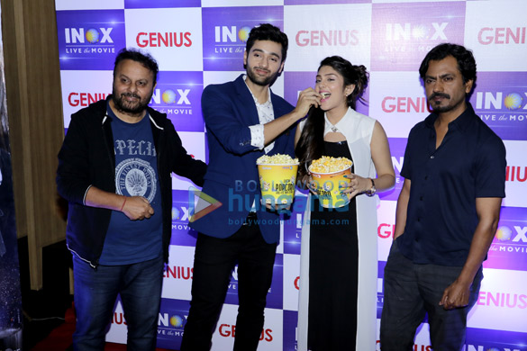 Anil Sharma, Utkarsh Sharma, Ishita Chauhan and Nawazuddin Siddiqui snapped at R City Mall during 'Genius' promotions (3)
