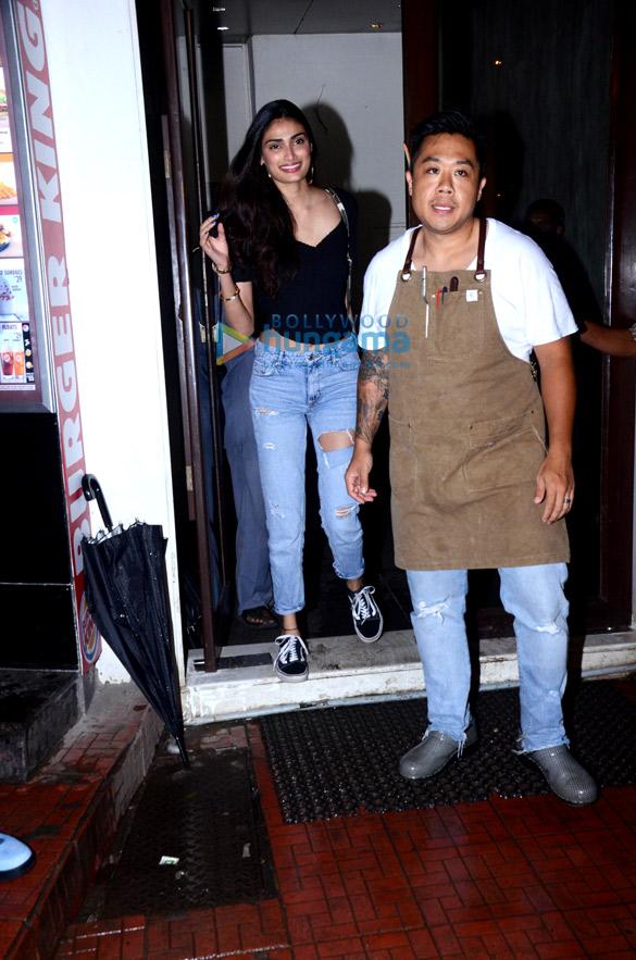 Athiya Shetty spotted at Bastian in Bandra