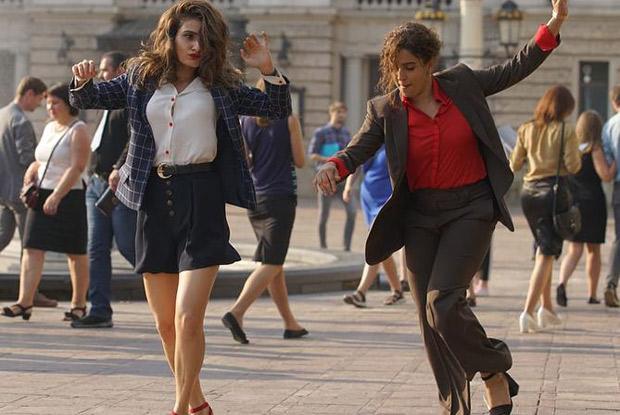 BFF Goals Fatima Sana Shaikh and Sanya Malhotra break into an impromptu DANCE on the streets of Europe (catch video)