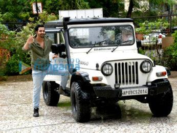 Gurmeet Choudhary and Harshvardhan Rane snapped promoting their film Paltan