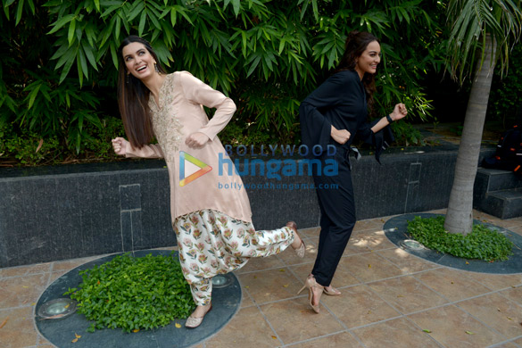 Cast of the film Happy Phirr Bhag Jayegi snapped promoting the film