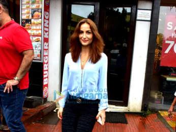 Elli Avram spotted at Bastian in Bandra