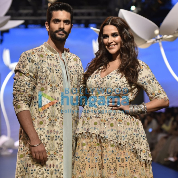 Lakme Fashion Week Winter Festive 2018: Pregnant Neha Dhupia and Angad Bedi turn showstoppers for Payal Singhal and we are SHOOK!