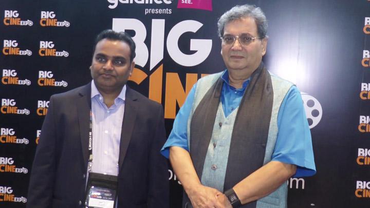 Subash Ghai at the inauguration of Big Cine Expo