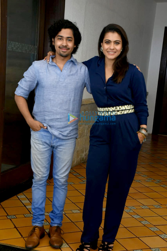 Kajol and Riddhi Sen snapped promoting the film Helicopter Eela