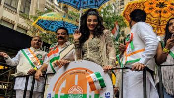 Kamal Haasan and Shruti Haasan attend the India Day Parade in New York