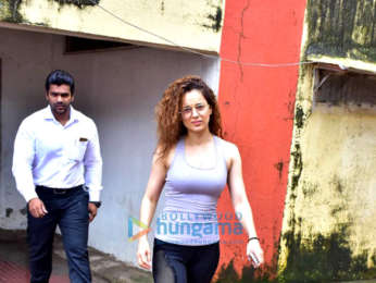 Kangana Ranaut spotted at the gym in Bandra