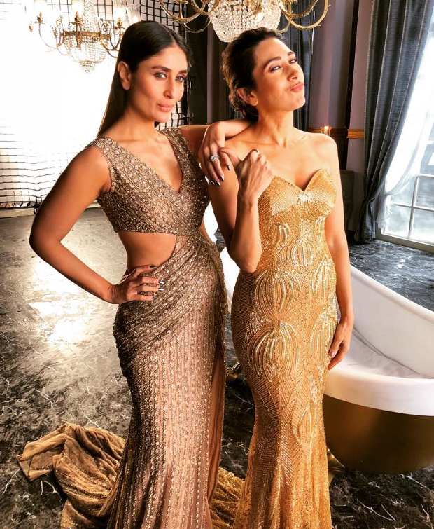 Kareena Kapoor Khan and Karisma Kapoor for Lux Ad-shoot (1)